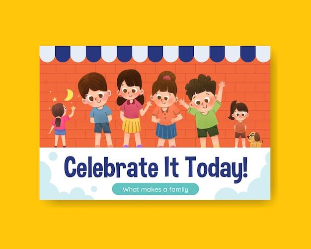 Szablon na facebooka z koncepcją dnia dziecka