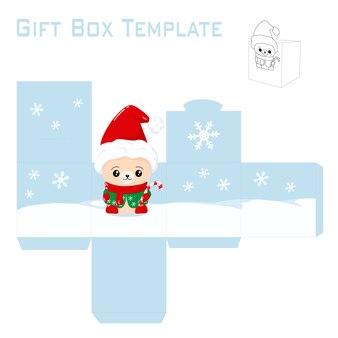 Szablon na świąteczne pudełko
