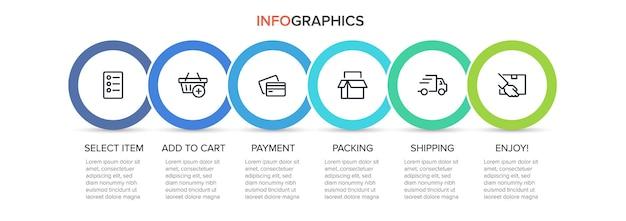 Szablon na zakupy infografiki