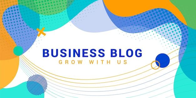 Szablon nagłówka bloga streszczenie biznes