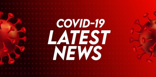 Szablon nagłówka najnowszych wiadomości covid-19