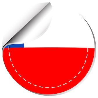Szablon naklejki dla flagi chile