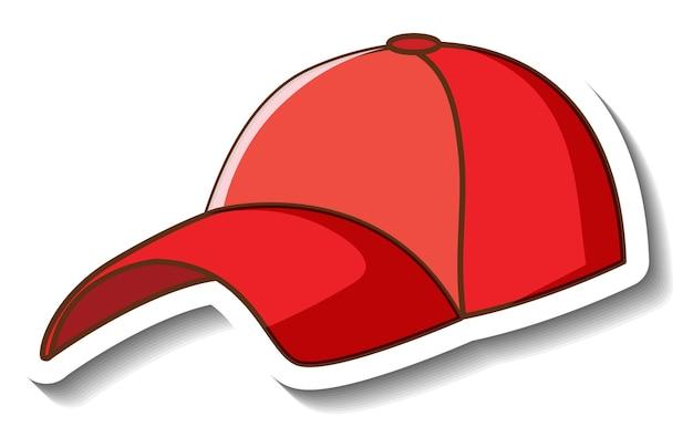Szablon naklejki z czerwoną czapką na białym tle