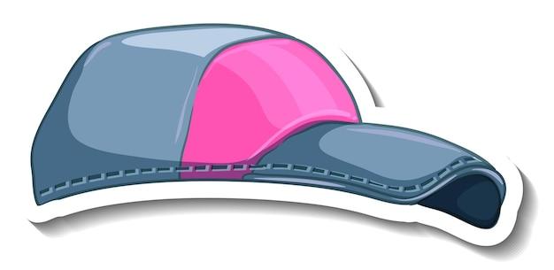 Szablon naklejki z dżinsową czapką na białym tle