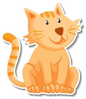 Szablon naklejki z postacią z kreskówki kota
