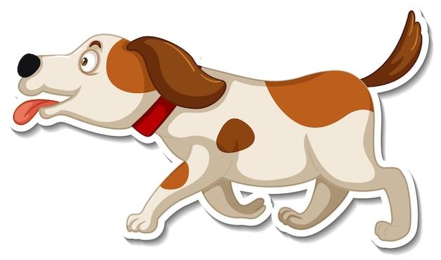 Szablon naklejki z postacią z kreskówki psa