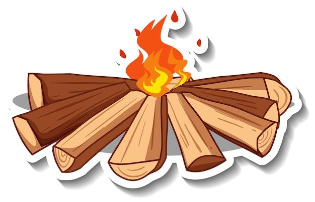 Szablon naklejki z wyizolowanym ogniskiem