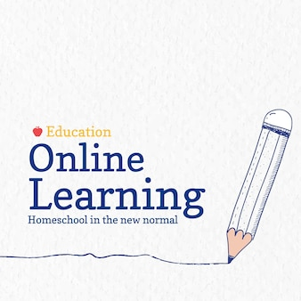 Szablon nauki online wektor technologia przyszłości