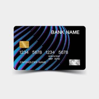 Szablon niebieski gradient karty kredytowej