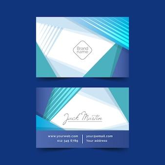 Szablon niebieski wizytówki