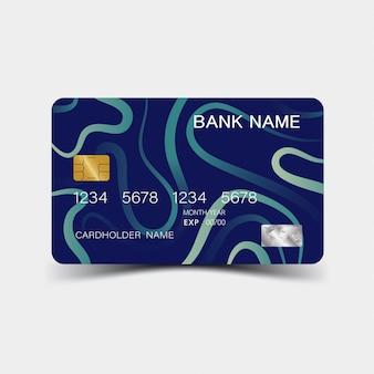 Szablon niebieskiej karty kredytowej