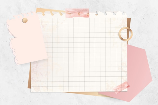 Szablon notatki papieru siatki