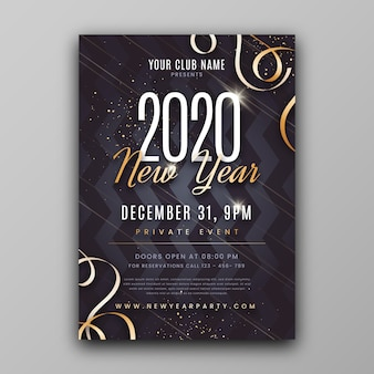 Szablon nowego roku streszczenie ulotki strony