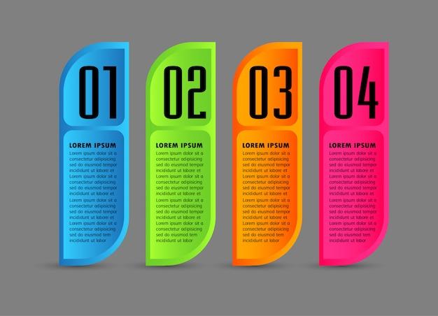 Szablon nowoczesne pole tekstowe papieru, baner infographic