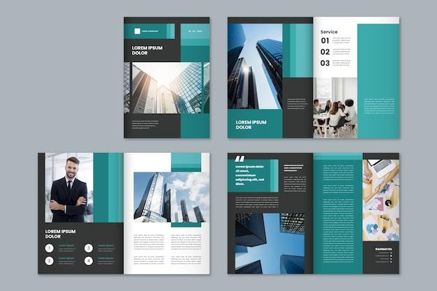 Szablon nowoczesnego biznesu broszura