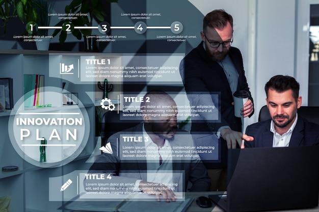 Szablon nowoczesnego biznesu infographic
