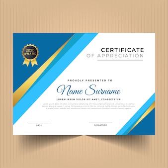 Szablon nowoczesnego certyfikatu osiągnięć