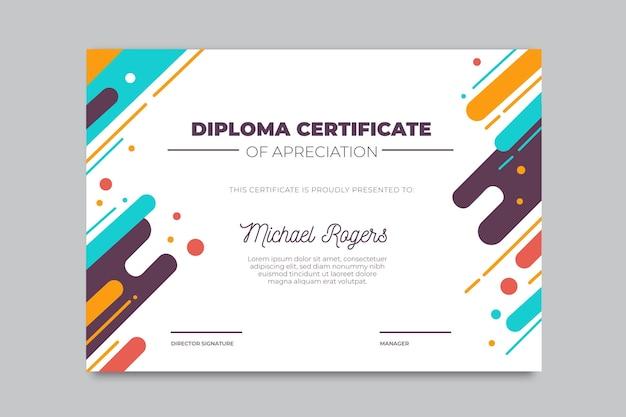 Szablon nowoczesnego dyplomu