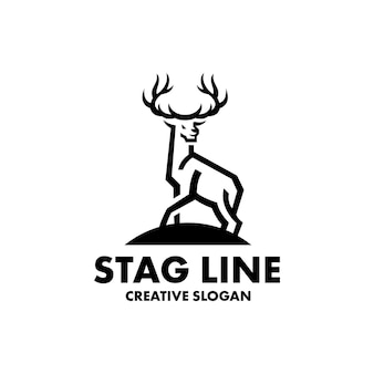 Szablon nowoczesnego logo jelenia
