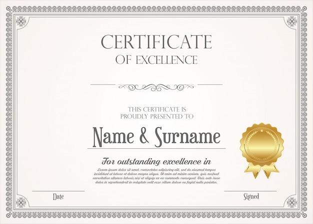 Szablon nowoczesnego projektu certyfikat lub dyplom