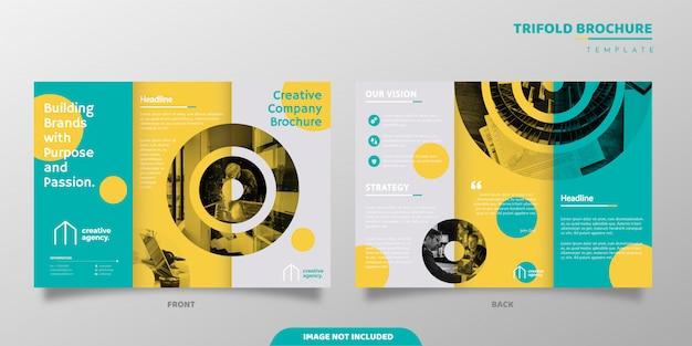 Szablon nowoczesnej broszury