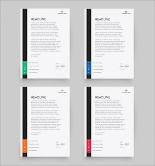 Szablon nowoczesny papier firmowy w pakiecie płaski