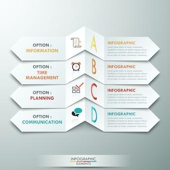 Szablon nowoczesnych opcji infografiki