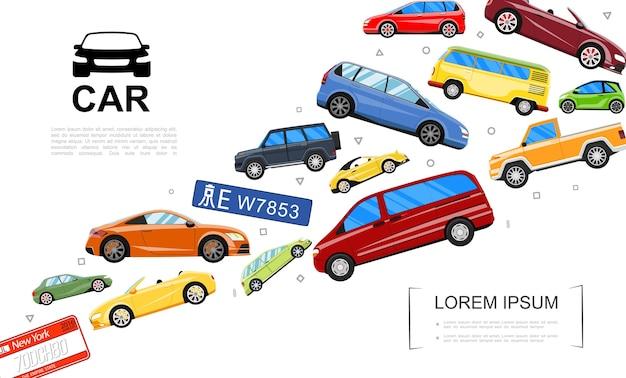 Szablon nowoczesnych samochodów