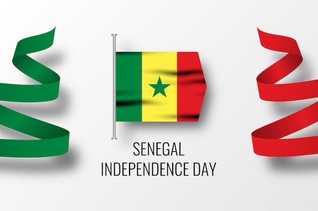 Szablon obchodów dnia niepodległości senegalu