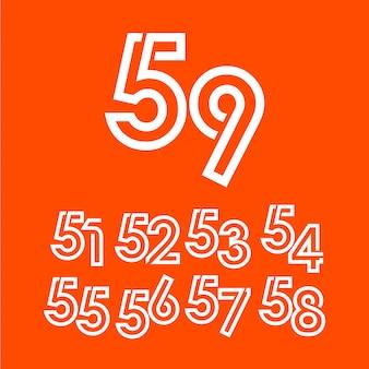 Szablon obchodów rocznicy 59 lat