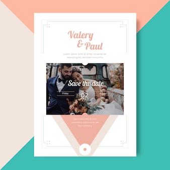 Szablon obrazu zaproszenia ślubne