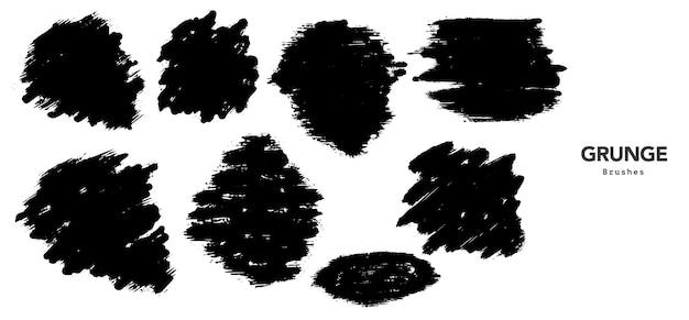 Szablon obrysu pędzla czarny nieczysty