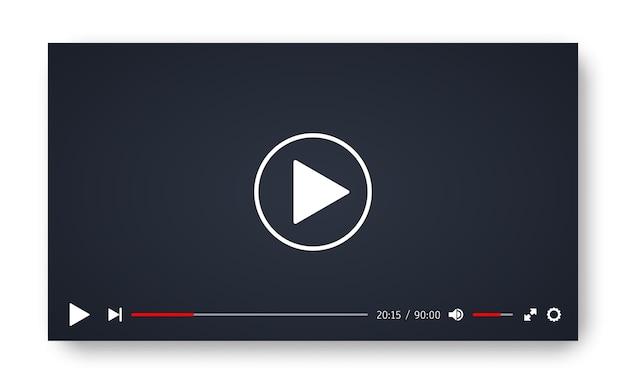 Szablon odtwarzacza wideo dla aplikacji internetowych lub mobilnych.