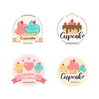 Szablon odznaka logo piekarni słodycze