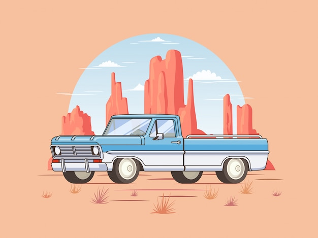 Szablon off road pickup truck