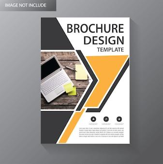 Szablon okładka ulotki lub broszura dowcip geometryczny kształt