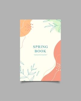 Szablon okładka wiosna książka naturalne tło