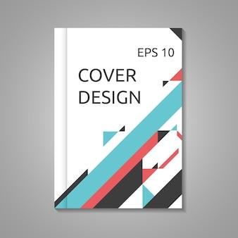 Szablon okładki broszury biznesowej, książki lub raportu w formacie a4. streszczenie minimalistyczny design. ilustracja wektorowa eps 10, użyto przezroczystości i siatki gradientowej
