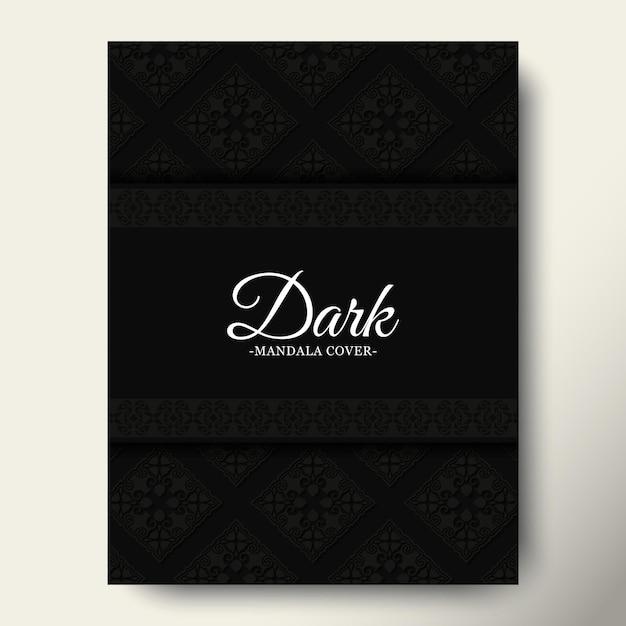 Szablon okładki ciemnego ornamentu