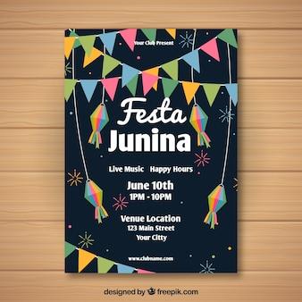 Szablon okładki dark festa junina
