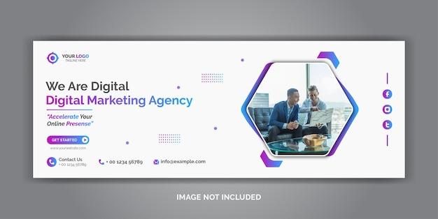 Szablon okładki facebook dla firmowych mediów społecznościowych do marketingu cyfrowego
