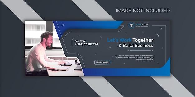 Szablon okładki facebook promocji marketingu korporacyjnego i cyfrowego biznesu