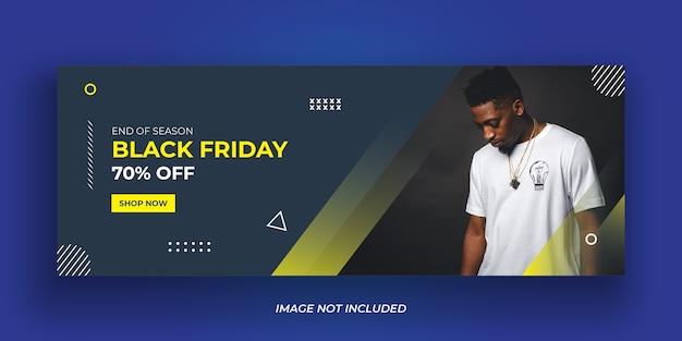 Szablon okładki facebooka na sprzedaż w czarny piątek