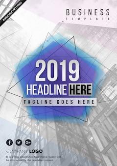 Szablon okładki firmy - raport roczny 2019