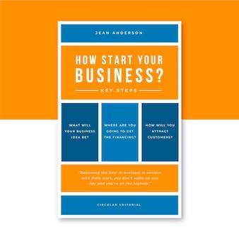 Szablon okładki książki biznesowe