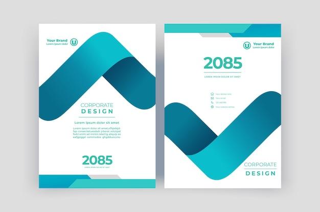 Szablon okładki książki do broszury raport roczny magazine układ ulotki z prezentacją korporacyjną