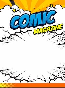 Szablon okładki książki komiksowej