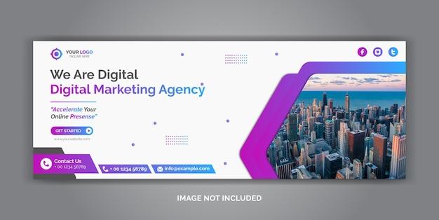 Szablon okładki mediów społecznościowych do marketingu cyfrowego