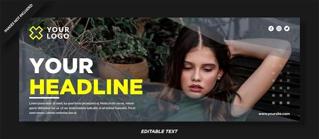 Szablon okładki na facebooku do projektowania mody