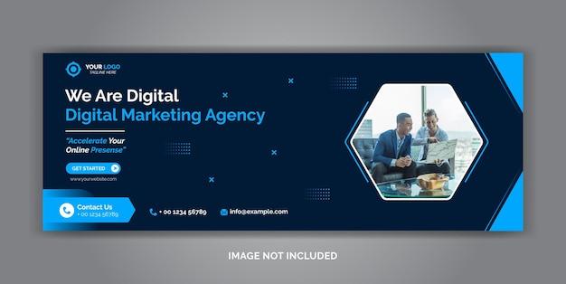Szablon Okładki Na Facebooku W Mediach Społecznościowych Do Marketingu Cyfrowego Premium Wektorów